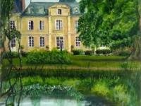 2004, Haras de la Potardiere, acryl op karton, 42x56cm