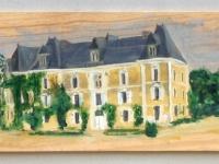 2009, Chateau de Chambiers, acryl op plankje, 17x50cm