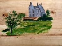 2010, Chateau de la Villaine-terras, acryl-paneel, 30x50cm