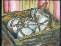 2005-jeu de boules in bak-23x30cm-aquarel-inkt