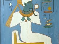 2008, Egypte Osiris, 50x70cm, acryl op pleister,-in OPDRACHT
