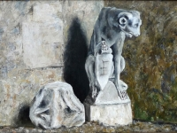 2009-stenen-hondendraak-50x70cm-acryl-op-karton