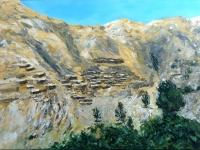 2010-marokko-dorp-in-atlas-50x70cm-acryl