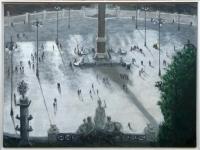 2011, Piazza del Popolo-Rome, 90x120cm, acryl-500