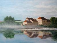 2012-huis-aan-het-water-ochtendmist-acryl-op-doek-60x80cm