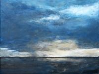 2013- Waddenzeegezicht I, acryl, 60x80cm