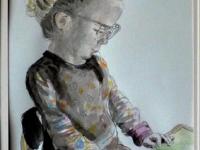 2012- Kato wil lezen 4 jaar- inkt kleurpotlood- 20x30cm- papier